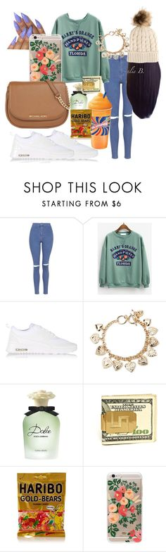 """""""Nail Appointment🍍💗💅"""" by quuee ❤ liked on Polyvore featuring Topshop, NIKE, Forever 21, Disney, Dolce&Gabbana, Rifle Paper Co, MICHAEL Michael Kors and claire's"""