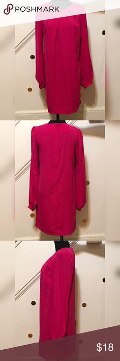 Asos Magenta Dress Iike New ASOS Dresses Long Sleeve