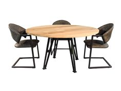 Dallas – Industriele eettafel Dallas, Dining, Table, Furniture, Home Decor, Ideas, Food, Decoration Home, Room Decor