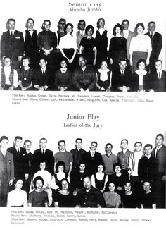 "The Senior Play ""Mumbo Jumbo"" and the Junior Play ""Ladies of the Jury"" Members"