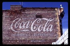 Design for the table top? He loves faded ads and he loves Coke!