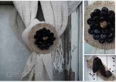 jute and purple corn brooch