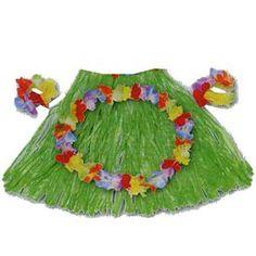 Conjunto para niña compuesto de falda, collar y pulsera de flores hawainas. (También disponible para adultos) http://www.airedefiesta.com/product/2956/0/0/1/1/Conjunto-Hawaiano-Original-Infantil.htm #fiestahawaiana #fiestacaribeña #tiki
