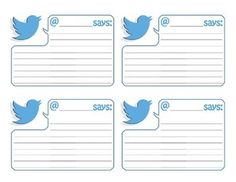 Twitter Feed Template - 3x5 Twitter Classroom, Twitter Template, History Activities, Exit Tickets, Classroom Walls, Teacher Newsletter, No Response, Backgrounds, Pdf