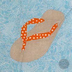During Quiet Time: Flip Flop Paper Pieced Pattern
