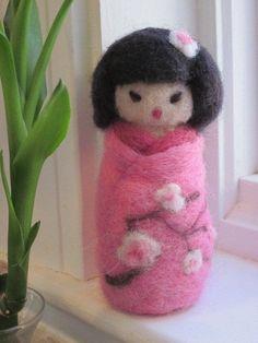 wool kokeshi