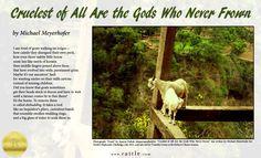 """Cruelest of All Are the Gods Who Never Frown"" by Michael Meyerhofer  Rattle's Ekphrastic Challenge, July 2015, Editor's Choice Winner http://www.rattle.com/poetry/cruelest-of-all-are-the-gods-who-never-frown-by-michael-meyerhofer/  Photo by Aparna Pathak https://twitter.com/aparnapathak04"
