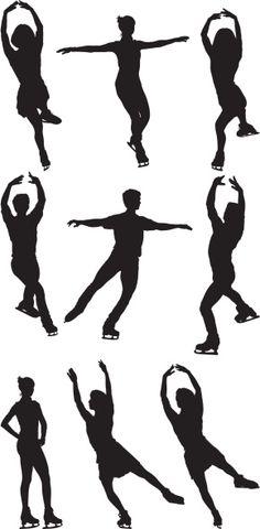 Royalty livre: patinação no gelo - Pinner Für Alles Body Reference, Art Reference, Ice Skating, Figure Skating, Ice Skate Drawing, Trans Art, Face Painting Designs, People Illustration, Winter Art