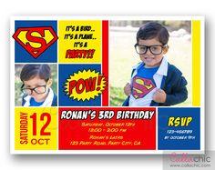Custom Superman Birthday Invitation Superman by OhSewCuteByMel