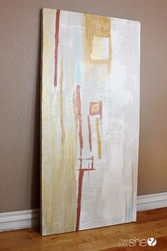 Paint cheap insulation board/foam instead of canvas.