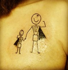Coolest tattoo idea ever? Uh. Yeah! Perfect for a mom or a dad! (And there are a ton of cool dad ideas on this site)
