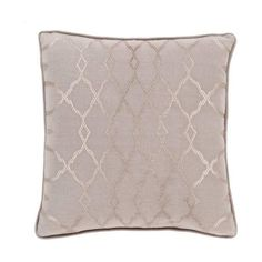 Surya LY-005 Square Indoor Decorative Pillow with Down or Polyester (93 CAD) ❤ liked on Polyvore featuring home, home decor, throw pillows, pillows, polyester throw pillows, metallic throw pillows, surya and square throw pillows