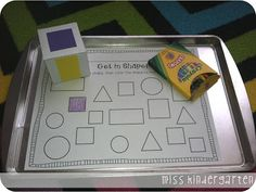 The kids will roll the shape cube and color in the corresponding shape