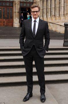GQ Awards Colin Firth, Kingsman Suits, Suit Combinations, Black Oxfords, Looks Black, Black Suits, Gentleman Style, Good Looking Men, Men Looks