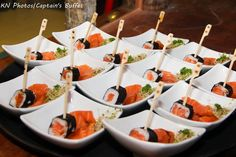 Mini sushi. #CaptainsBuffet #Wedding #fingerfood #buzios
