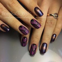 Cute Nail Art Ideas to Try - Nailschick Purple Nails, Red Nails, Love Nails, Pretty Nails, Hair And Nails, Fabulous Nails, Perfect Nails, Simple Nail Designs, Nail Art Designs