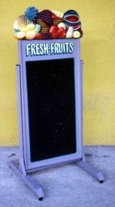 Pop Art Decoration - Restaurants & Commercial - Menus & Chalkboards - Swing Plate Chalkboard Menu Fresh Fruits