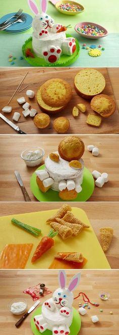 DIY Easter Bunny Rabbit Cake