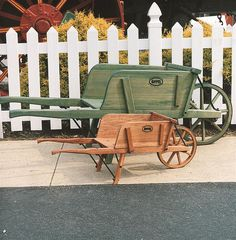 Lehman's - Amish-Made Wheelbarrows (come in three different sizes--I LOVE this store, it has the neatest and most useful stuff I have ever seen.)