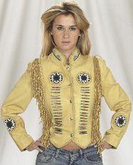 Native Beads and fringe Womens Western Jacket, Womens western jacket, fringe…