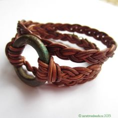 Beaded Wrap Bracelet from Sunstones Gems & Jewelry. Easy, made with leather or hemp.