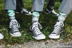 High top Chuck Taylors wedding shoes with argyle socks at Willowdale Estate Topsfield, MA willowdaleestate.com