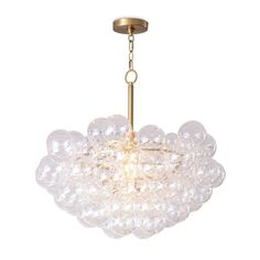 Regina Andrew Bubbles Chandelier in Natural Brass 16-1044NB Bubble Chandelier, Chandelier For Sale, Glass Chandelier, Crystal Chandeliers, Ceiling Fixtures, Ceiling Lights, Miller Homes, Drum Pendant, Pendant Lights