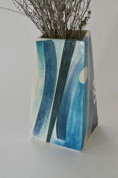 blue slab pot by belatrova
