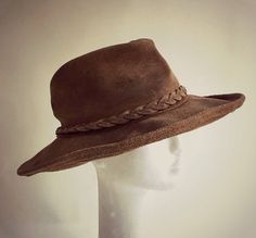 ViNtAgE Minnetonka Suede Leather Outback Floppy by MothFoodVintage