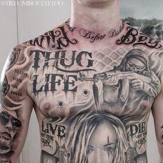 Top Hyper Realistic Tattoo for 2020 Hand Tattoos, Chicanas Tattoo, Torso Tattoos, Tattoo Hals, Body Art Tattoos, Stomach Tattoos, Gangster Tattoos, Biker Tattoos, Chicano Tattoos Gangsters