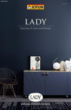 Jotun LADY - Det nye vakre fargekartet 2015 by Jotun Dekorativ AS - issuu Living Room Modern, Home And Living, St Pauls Blue, Jotun Paint, Home Wall Painting, Jotun Lady, House Color Palettes, Deco Blue, Wall Paint Colors