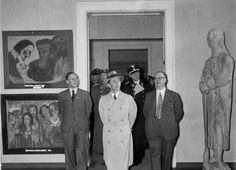 Propaganda minister Joseph Goebbels visiting  the original Degenerate Art exhibition in Munich in 1937  (Source: wiki)