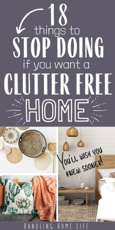 Home decluttering tips and hacks for a clutter free house. #handlinghomelife Declutter Home, Declutter Your Life, Organizing Your Home, Organising, Organizing Tips, Organizing Clutter, Getting Rid Of Clutter, Getting Organized, Organized Mom