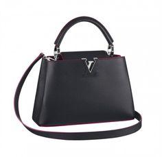 Mini handbag Les Capucines Louis Vuitton nera con tracolla