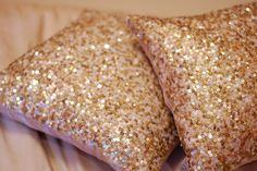 Glitter pillows!