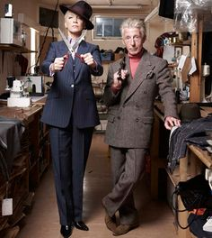 """"""" I loved working with a master craftsman like Edward""""  """"Wearing something made to fit your body contours makes you want to stand up tall; your whole posture is adjusted""""  Annie Lennox"""