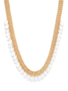 Love white jewelry lately. Fun piece from Bauble Bar.