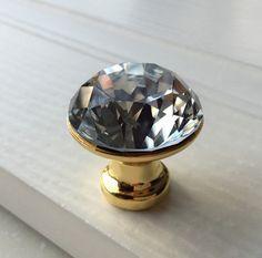 Glass Crystal Knobs Cabinet Knob /Dresser knobs by jade4wood