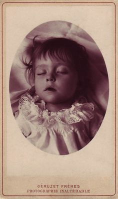Victorian Post Mortem what a beautiful little girl