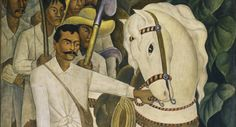 """Diego Rivera. Agrarian Leader Zapata. 1931. Fresco, 7' 9 3/4"""" x 6' 2"""" (238.1 x 188 cm). The Museum of Modern Art. Abby Aldrich Rockefeller Fund / Diego Rivera´s MoMA exhibition will bring together key works made for Rivera's 1931 exhibition, presenting them at MoMA for the first time in nearly 80 years.  Diego Rivera: Murals for The Museum of Modern Art  November 13, 2011– May 14, 2012"""