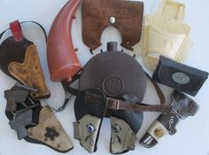 1960s Vintage Lot  Cowboy Toys Holsters Halco by retrogal415