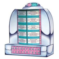 Table Top Jukebox 50s Style Retro 3D Party Decoration or Centerpiece - Nostalgiaville USA