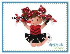 642+Standing+Cheerleader+with+3D+Pom+Poms+by+AppliqueCornerDesign,+$4.00
