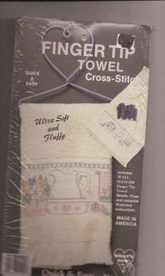 Finger Tip Towel Cross Stitch Kit Pitcher & Wash Basin Quick & Easy New #WhatsNew #Towel