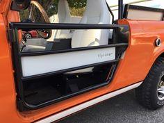 "1971 International scout ii tube doors with custom ""fixed"" logo insert"