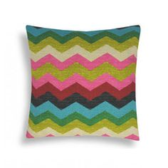 Array of Color with Chevron Jewel Pillow | domusworks