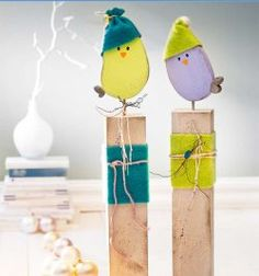 Noch mehr dekorative Holzpfosten