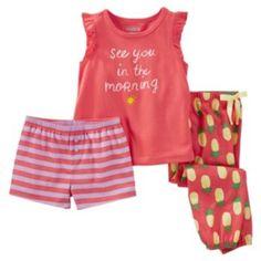 Girls 4-12 OshKosh B'gosh Print 3-Piece Pajama Set