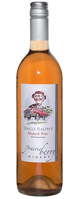Uncle Ralph's Rhubarb. A semi-dry rhubarb wine that tastes just like...rhubarb! Pair with ham or creamy dishes and think spring.  $17.50