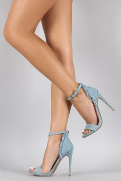 Shoe Republic Touch of Denim Fluff Heel